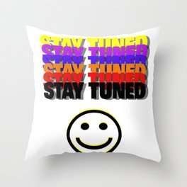 Stay Tuned in Color by Kimberly J Graphics Throw Pillow
