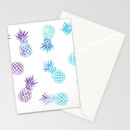 Pineapple Paradise Pattern Stationery Cards