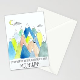 Let Her Sleep Stationery Cards