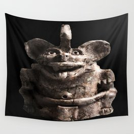 Zapotec Bat Figure Wall Tapestry