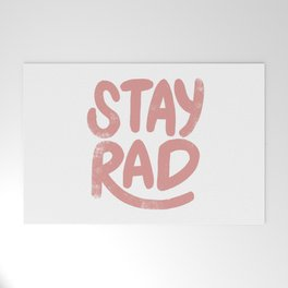 Stay Rad Vintage Pink Welcome Mat