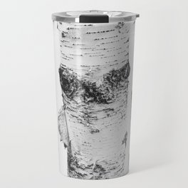 Birch Trees Landscape Photography | Black and White | black-and-white | bw Travel Mug