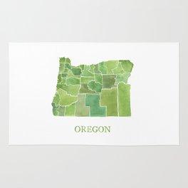 Oregon Counties watercolor map Rug