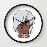 dragon age Wall Clocks featuring Fenris (Dragon Age 2) by Anne