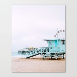 Santa Monica Pier Lifeguard Canvas Print