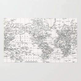 White world rugs society6 white world map rug gumiabroncs Images