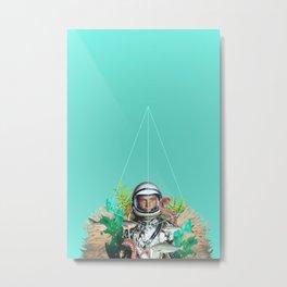 Underwater Astronaut Geometry Metal Print
