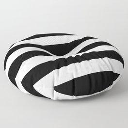 Black Bold Stripes Floor Pillow