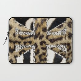 Wild   Hipster leopard Print Zebra UK Union Jack Flag  Laptop Sleeve