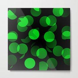 Green Dots Metal Print