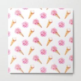 Floral Cones Metal Print