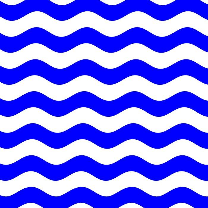 Wavy Stripes (Blue/White) Comforters