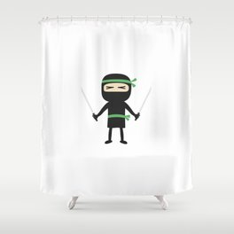 ninja with weapon Shower Curtain