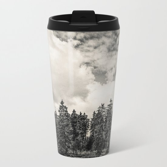 Far Away Clouds Passing By Metal Travel Mug
