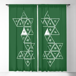 Green Unrolled D20 Blackout Curtain