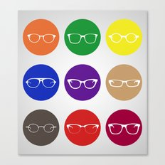 9 Glasses Styles Canvas Print