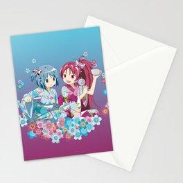 Sayaka Miki & Kyoko Sakura - Love Yukata edit. Stationery Cards