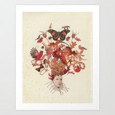 Red Head II Art Print