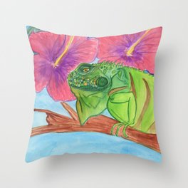 U wanna Iguana Throw Pillow
