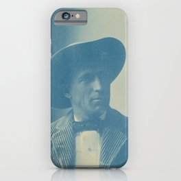 Vintage Cyanotype - Aemilian Scholl - Portrait of Charles Fletcher Lummis (1897) iPhone Case
