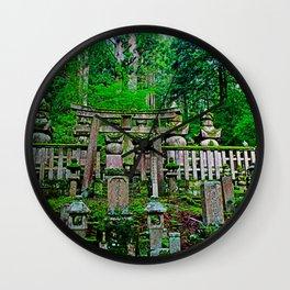 okunoin cemetery Wall Clock