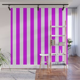 Orlando Orchid Pink Vertical Tent Stripes Florida Colors of the Sunshine State Wall Mural