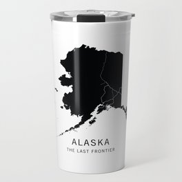 Alaska State Road Map Travel Mug