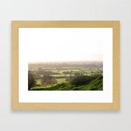 Green Meadow of Ireland Framed Art Print