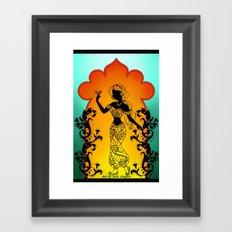 Silhoue Jasmine  Framed Art Print
