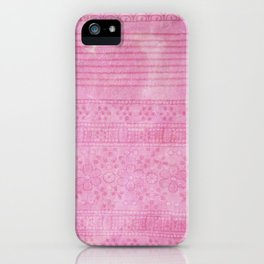 Romantic pink painting iPhone Case