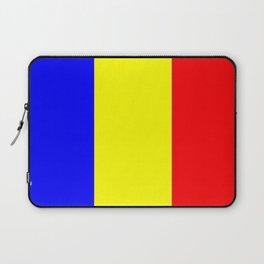 Flag of romania 2 -romania,romanian,balkan,bucharest,danube,romani,romana,bucuresti Laptop Sleeve