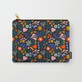 Abstract Botanical Dark Carry-All Pouch