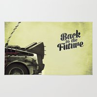 back to the future Area & Throw Rugs featuring Back to the future by Duke.Doks
