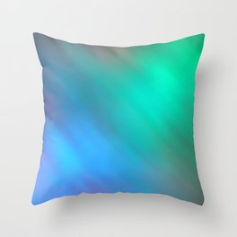 Mystic - Green and Blue Throw Pillow