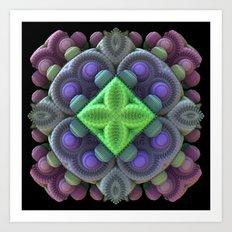 3D Fractal Abstract Thingy Art Print