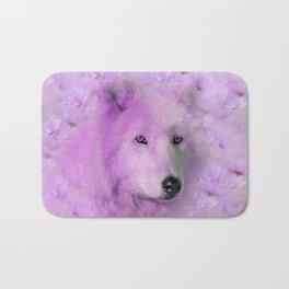 PURPLE WOLF FLOWER SPARKLE Bath Mat