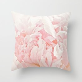 Peony Heart Throw Pillow