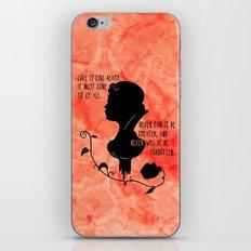 Love is like Death iPhone & iPod Skin
