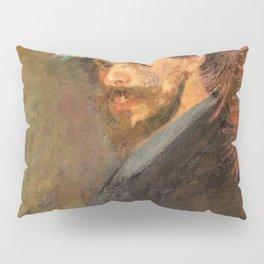 Self-portrait with flowered hat - James Sidney Edouard Baron Ensor Pillow Sham