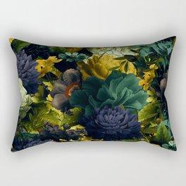 melancholy flowers big seamless pattern 01 tension green Rectangular Pillow