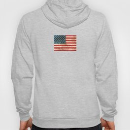 Vintage Aged and Scratched American Flag Hoody