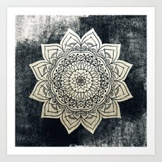 DEEP GOLD MANDALA Art Print