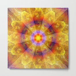 Smoke Flame Metal Print