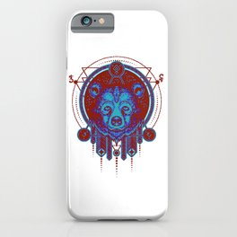 Native Spirit Totem (The Bear) iPhone Case