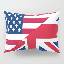 American and Union Jack Flag Pillow Sham
