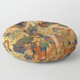 DIANA AND HER NYMPHS - ROBERT BURNS Floor Pillow