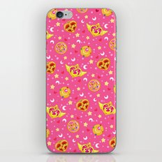 Sailor Moon Brooches Pattern - Pink / Sailor Moon iPhone & iPod Skin