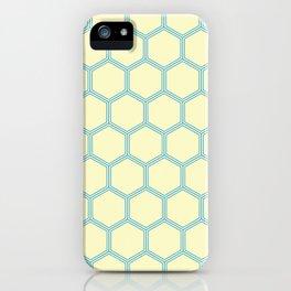 Bright Yellow Blue  Geometrical Pattern Design iPhone Case