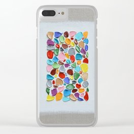 Mosaic Polka Daubs Clear iPhone Case