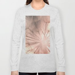 Pink Dandelion Macro Nature Photography Art and Apparel Long Sleeve T-shirt
